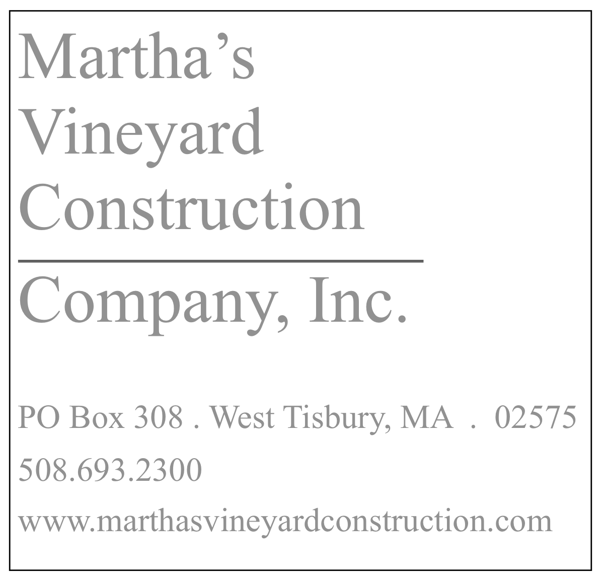 Martha's Vineyard Construction Company